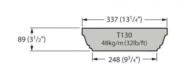 T130 Cast Stone Coping