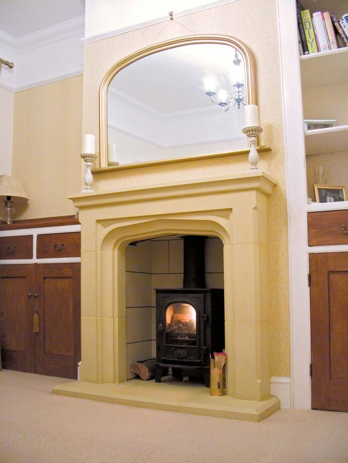 Tall Manor House Fireplace including Hearth