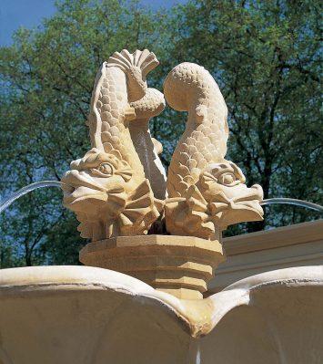 Triple Dolphin Fountain