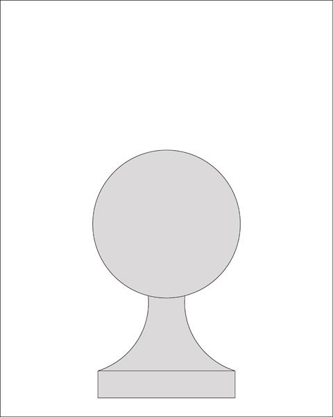 14 inch Ball Finial