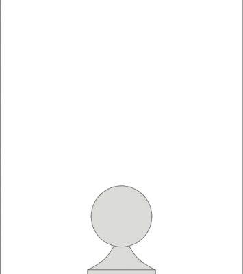 8 inch Ball Finial