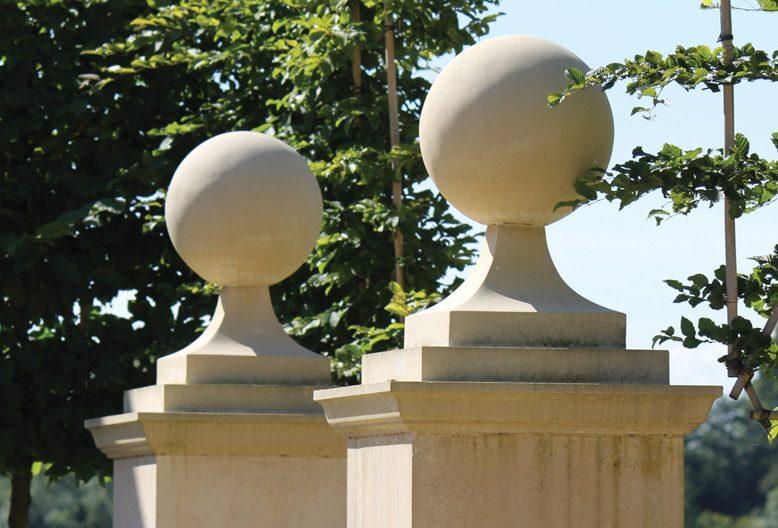 cast stone ball finials by haddonstone