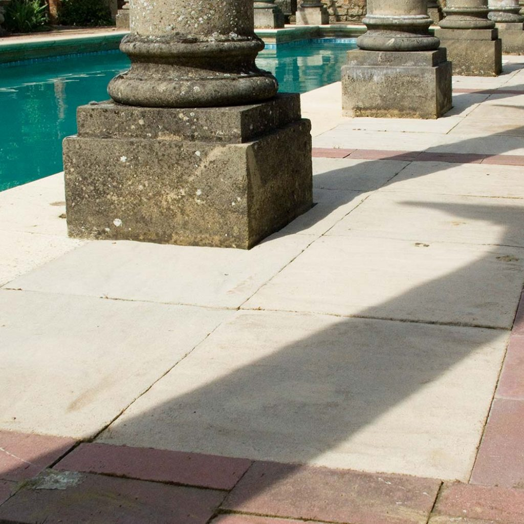 cast stone white riven paving by haddonstone