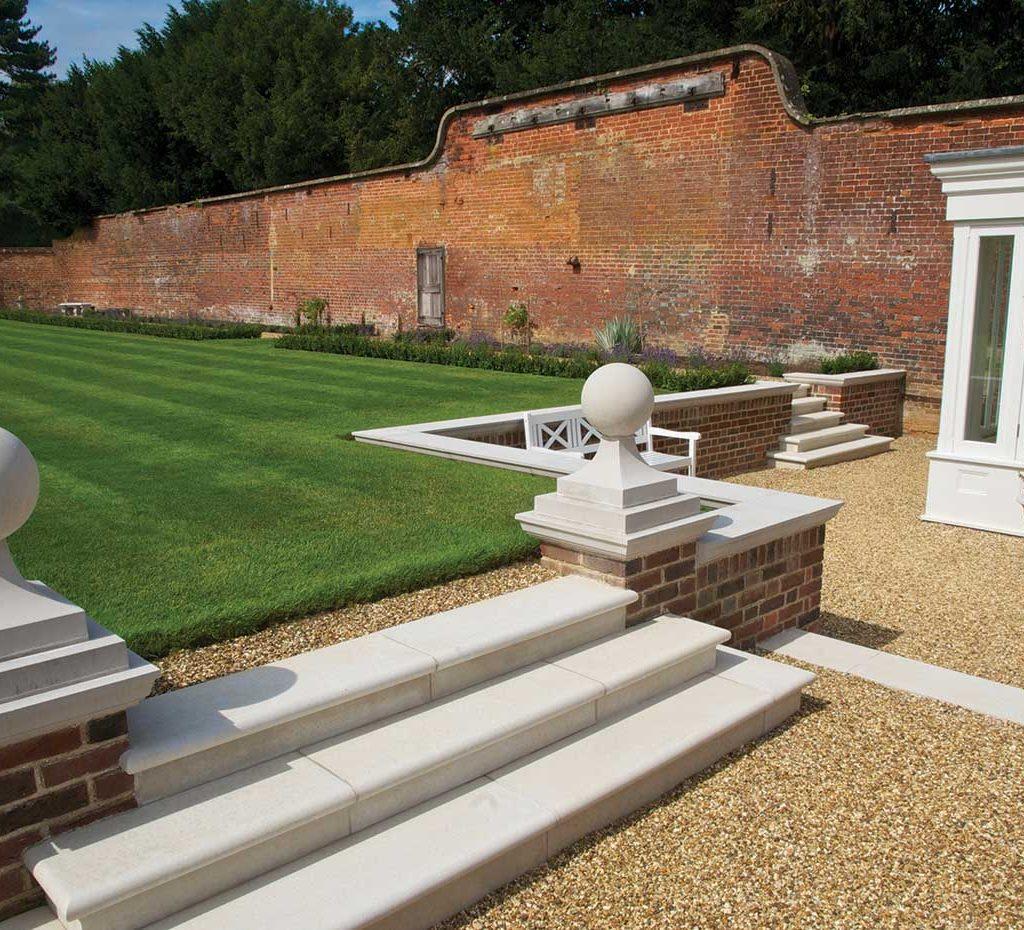 cast stone garden steps
