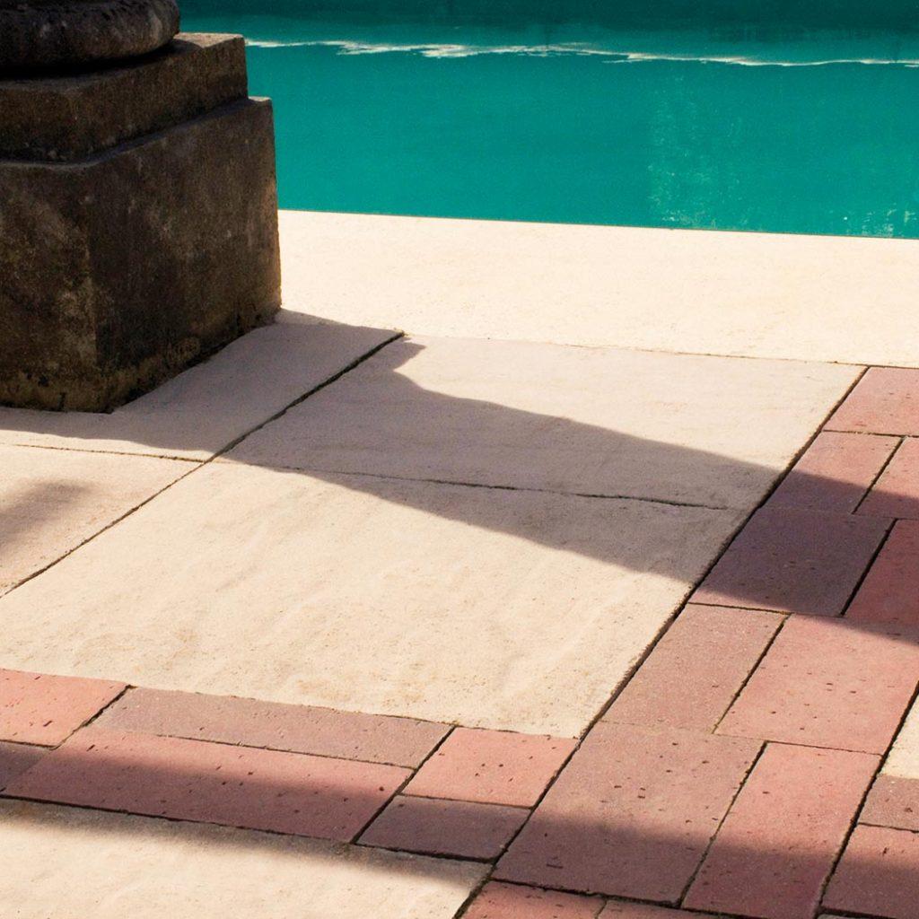 haddon pavers cast stone paving white