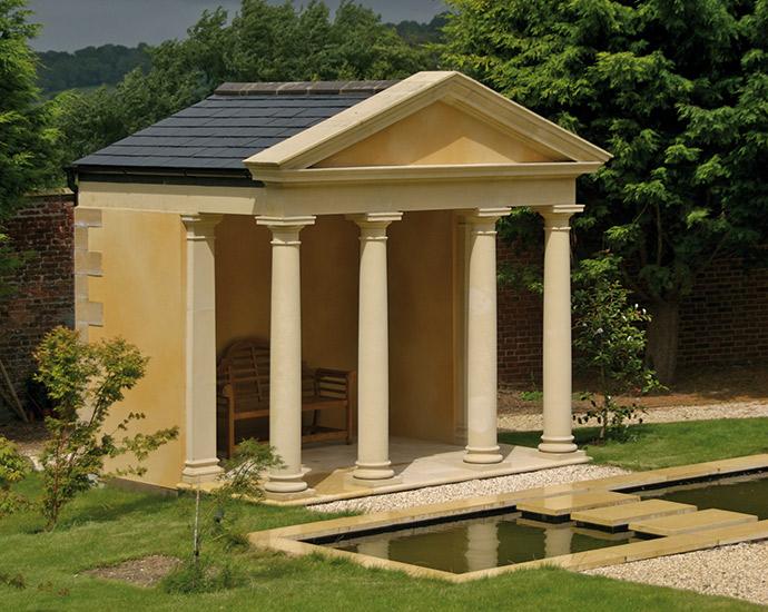 cast stone pavilion by haddonstone