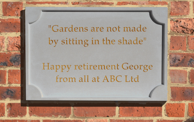 Customized Stone Plaque - Face-Fixed