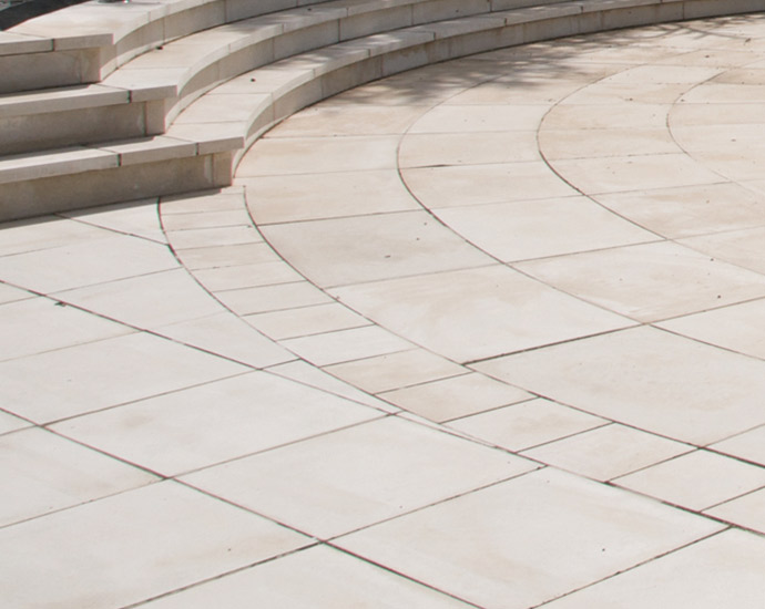 cast stone smooth paving by haddonstone at raf memorial