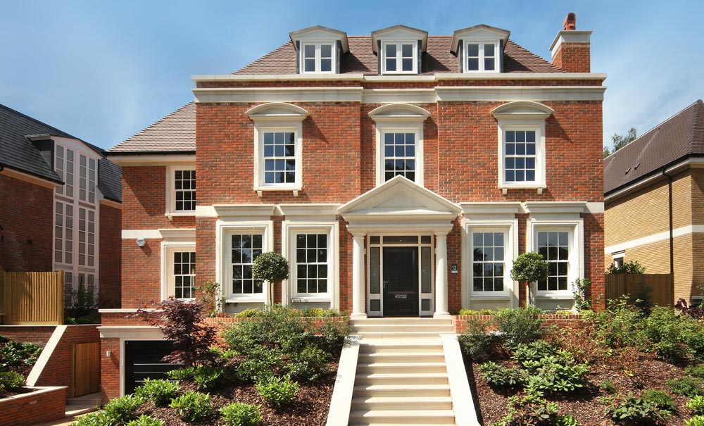 A luxury property in Esher, featuring many of Haddonstone's stunning architectural designs.