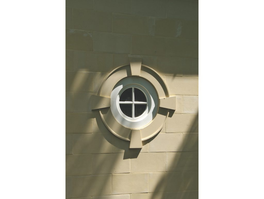 round window surrounds in cast stone