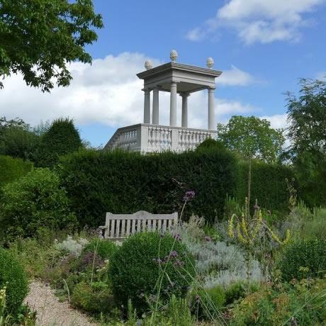 Haddonstone belvedere at the laskett gardens