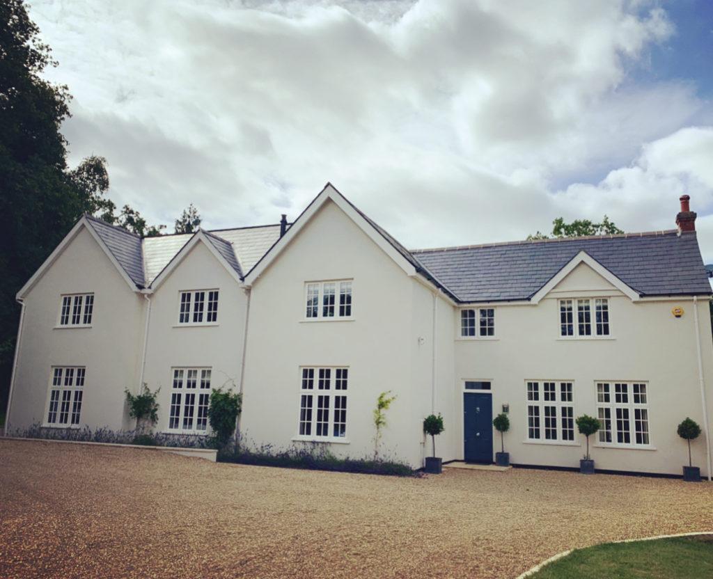Rebecca Doyle's house before installing a Haddonstone portico