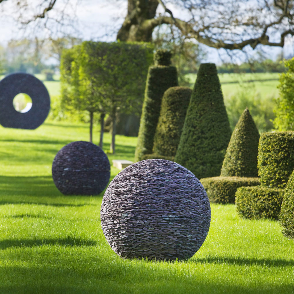 david harber sculptures in garden