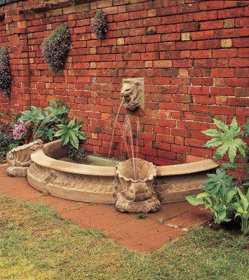 Half Small Pool kerbs, vases and plinths