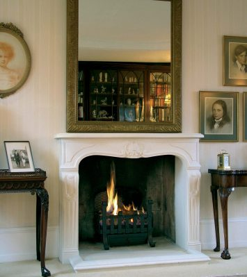 Louis XV Fireplace including Kerbs and Hearth
