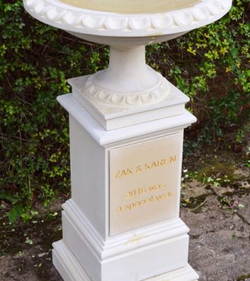 Personalised Bird Bath and Pedestal