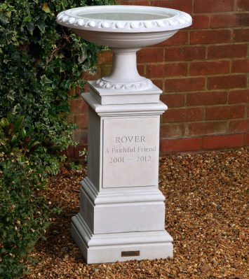 Pet Memorial Bird Bath & Pedestal