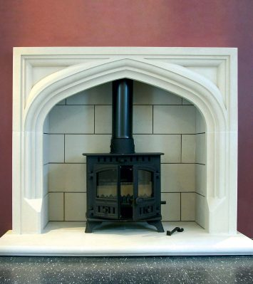 Tudor Fireplace (excluding shields) including Hearth