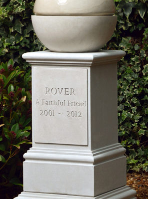 Pet Memorial Fountain & Pedestal