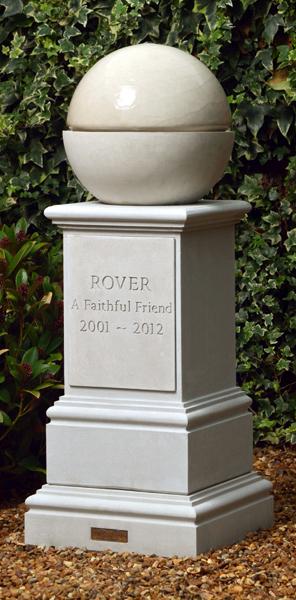 Pet Memorial Fountain & Pedestal