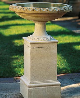 Regency Bird Bath and Pedestal