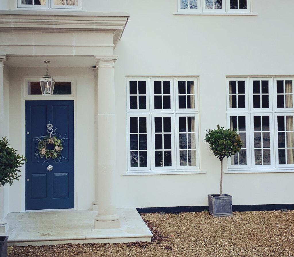 Rebecca's finished Haddonstone portico